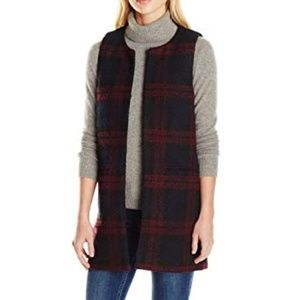 Sanctuary Cecilia Plaid Textured Long Vest 167